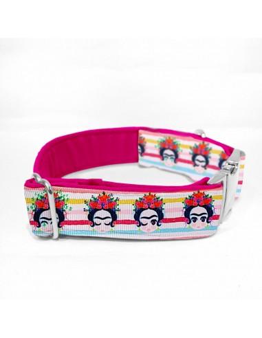 Collar perro estampado Frida Kahlo
